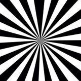 黑白镶边光芒破裂了样式背景,光学 向量例证