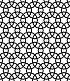黑白阿拉伯几何无缝的样式,传染媒介 库存例证