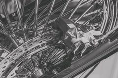 黑白,前叉和闸减速火箭的自行车 免版税库存图片