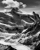 黑白Corbassiere的冰川 库存图片