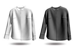 黑白jakets。 向量 免版税库存图片