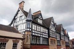 黑白Tudor样式 免版税库存照片