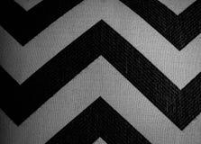 黑白V形臂章织品 图库摄影