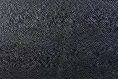 黑皮革布料样品缝合的 免版税库存图片