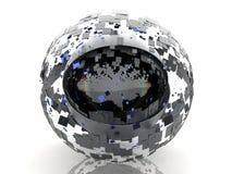 黑眼睛互联网球形 皇族释放例证