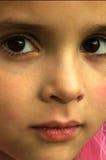 黑眼睛女孩 免版税库存照片