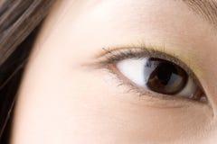 黑眼睛日语 免版税库存照片