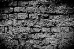 黑砖墙背景纹理 免版税库存照片