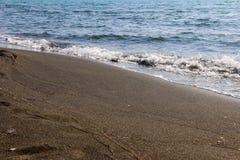 黑磁性沙子海滩黑海 库存图片