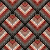 黑红色与金希腊关键装饰品的河曲无缝的样式 图库摄影