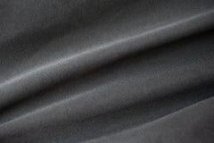 黑织地不很细纺织品,抽象背景 免版税库存照片