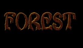 黑背景的词森林 库存照片