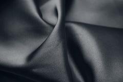 黑色丝绸 库存照片