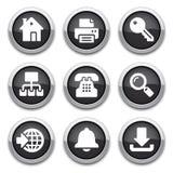 黑色互联网按钮 免版税图库摄影