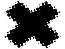 黑色交叉减速火箭的白色 免版税库存照片