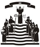 黑色仪式长袍 皇族释放例证