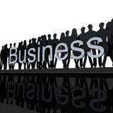 黑色企业徽标白色 免版税库存照片