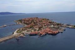 黑色保加利亚市海运 免版税库存照片
