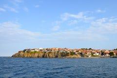 黑色保加利亚海岸安置海运sozopol 图库摄影