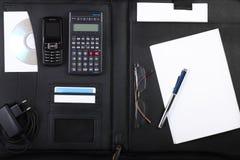 黑色公文包企业开放宽 免版税库存图片
