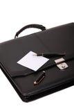 黑色公文包 免版税库存照片