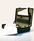 黑色公文包 免版税库存图片