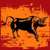 黑色公牛grunge 免版税图库摄影