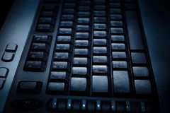 黑色关键董事会个人计算机 免版税库存照片