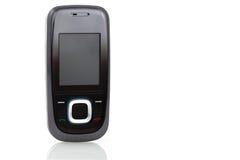 黑色典雅的移动现代电话 免版税库存图片