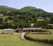 黑色农厂山英国威尔士 库存图片