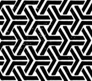黑色几何无缝的模式 免版税库存图片