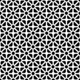 黑色几何模式无缝的白色 免版税图库摄影