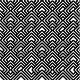 黑色几何模式白色 免版税库存照片