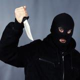 黑色刀子 免版税库存图片