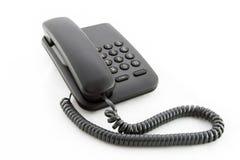 黑色办公室电话 库存图片
