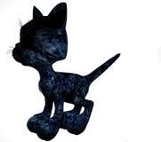 黑色动画片小猫 免版税图库摄影