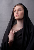黑色包括顶头妇女年轻人 库存照片