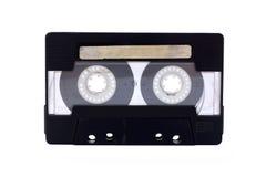 黑色卡式磁带协定查出透明 图库摄影
