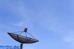 黑色卫星盘 免版税图库摄影