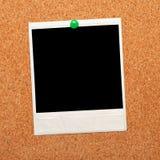 黑色即时照片 库存图片