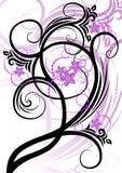 黑色卷曲紫色 图库摄影