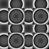 黑色和灰色无缝的装饰品。 免版税库存图片