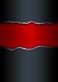 黑色和红色被剥去的纸张 免版税图库摄影
