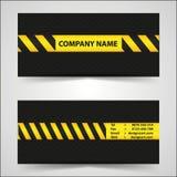 黑色和黄色名片 免版税库存图片