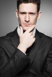 黑色商人衬衣诉讼白色 免版税图库摄影