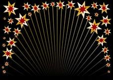黑色圈子星形 免版税图库摄影