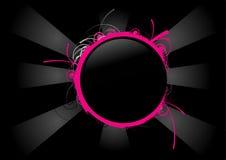 黑色圈子粉红色 免版税库存图片