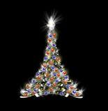 黑色圣诞树 向量例证