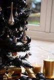 黑色圣诞树 免版税图库摄影
