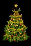 黑色圣诞节华美的结构树 图库摄影